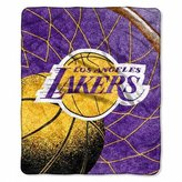 Pacific Sports Section Los Angeles Lakers Plush Raschel Throw