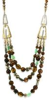 Alexis Bittar Elements Abstract Buckle Beaded Semi-Precious Multi-Stone Necklace/26