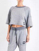 Ivy Park Raw-edge jersey cropped top