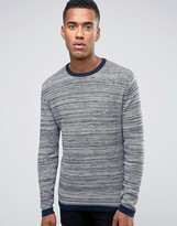 Jack and Jones Striped Knitted Crew