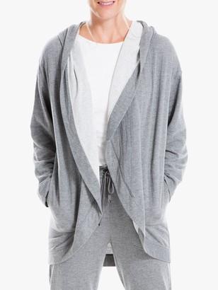 Max Studio Hooded Fleece Jacket, Grey