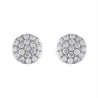 Heritage 18K 1.10 Ct. Tw. Diamond Cluster Earrings