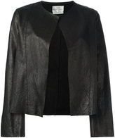 Forte Forte collarless open leather jacket - women - Leather - II