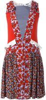 MSGM floral print flared dress