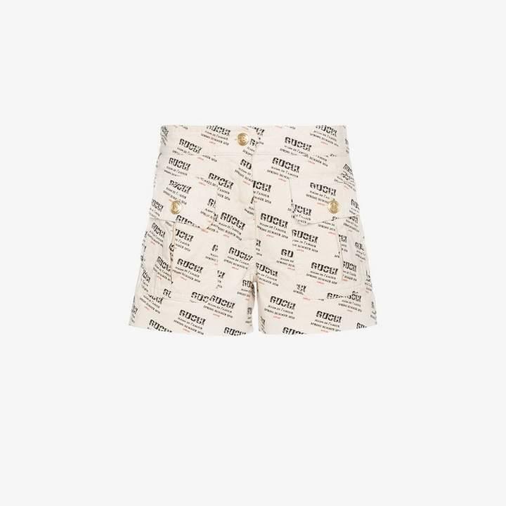 Gucci invite stamp denim shorts