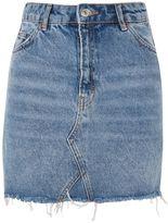 Topshop TALL Denim Mini Skirt