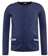 Il Gufo Knitted Navy Cardigan