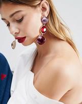 Asos Triple Gem Drop Earrings