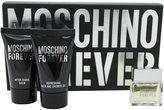 Moschino Forever by for Men 3 Piece Set Includes: 0.12 oz Eau de Toilette + 0.8 oz Bath & Shower Gel + 0.8 oz After Shave Balm