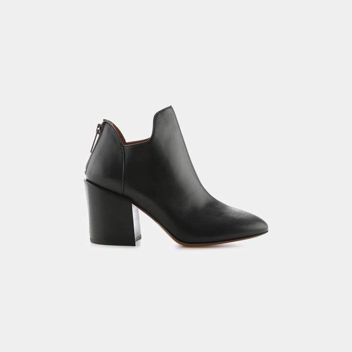 Aquatalia Francesca Nappa Leather Heeled Bootie