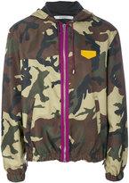 Givenchy hooded lightweight jacket - men - Leather/Polyamide - 46