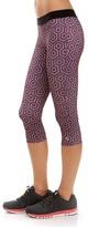 Soffe Purple Potent Geometric Dri Capri Leggings