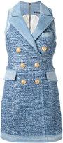 Balmain sleeveless blazer dress - women - Cotton/Polyamide-8/Viscose - 36