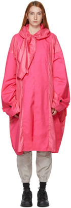 Ambush Pink Oversized Poncho Coat