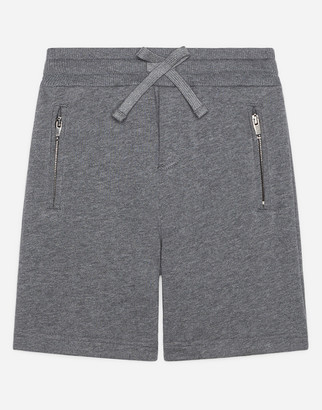 Dolce & Gabbana Jersey Jogging Shorts With Satin Detail