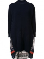 Sacai calligraphy embroidered sweater dress