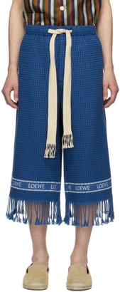 Loewe Navy Jacquard Trim Shorts