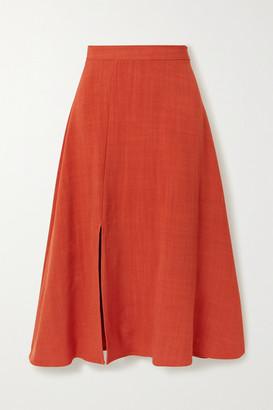 ARIAS Woven Midi Skirt - Orange