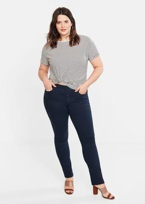MANGO Violeta BY Slim-fit Julie jeans dark navy - 8 - Plus sizes
