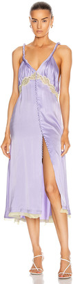 Jonathan Simkhai Kendra Sandwashed Charmeuse Dress in Electric Lilac | FWRD