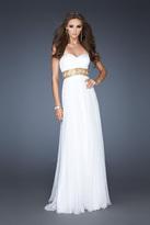 La Femme Strapless Sweetheart Long A-Line Dress 18379