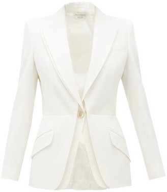 Alexander McQueen Double-layered Virgin-wool Blazer - Womens - Ivory