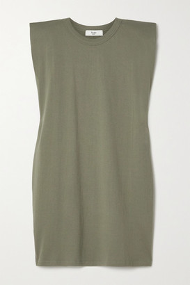 Frankie Shop Tina Cotton-jersey Mini Dress - Army green