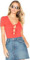 Privacy Please x REVOLVE Xenia Bodysuit in Red. - size S (also in XL,XS)