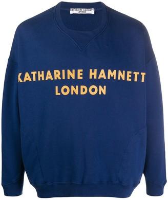 Katharine Hamnett Logo Print Sweatshirt