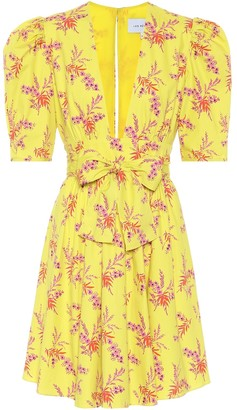 Les Rêveries Exclusive to Mytheresa Floral cotton poplin minidress