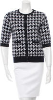 Carven Patterned Wool Cardigan