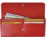 Royce Leather Women's RFID Blocking Saffiano Clutch