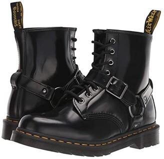 Dr. Martens 1460 Harness (Black Polished Smooth) Shoes
