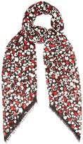 Saint Laurent Heart-print wool scarf