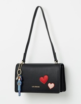 Love Moschino Crossbody Bag with Heart & Charm Detail