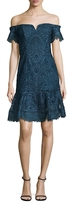 Nicole Miller Oscar Embroidered Lace Dress