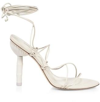 Cult Gaia Soleil Ankle-Wrap Leather Sandals