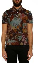 Valentino Cuba Tropical Pattern Polo T-shirt