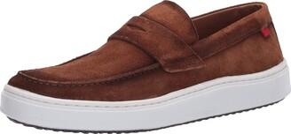 Marc Joseph New York Men's Leather Made in Brazil Luxury Comfortable Penny Detail Sneaker
