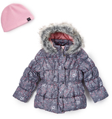 Hawke & Co Granite Wildflower Bubble Jacket - Girls