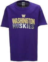 J America Washington Huskies Stack Sheen T-Shirt, Big Boys (8-20)