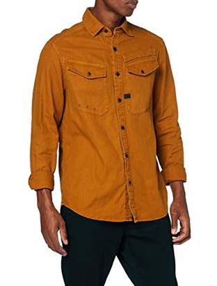 G Star Men's Army Straight Long Sleeve Casual Shirt,Small