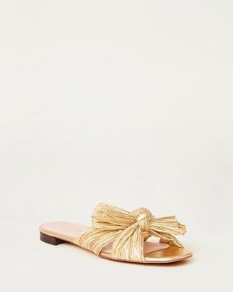 Loeffler Randall Daphne Knot Flat Sandal Gold