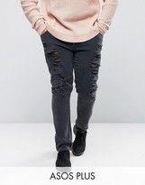 Asos PLUS Super Skinny Jeans With Extreme Rips