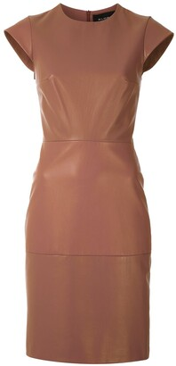 Gloria Coelho Leather Short Dress