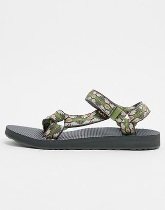 Teva original universal sandals in green canyon print
