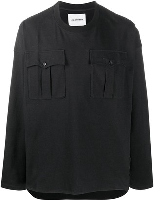 Jil Sander flap pockets long-sleeve T-shirt