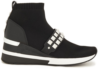 MICHAEL Michael Kors Studded Stretch-knit Sneakers