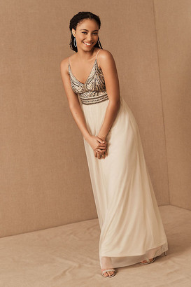 BHLDN Vilette Dress By in Beige Size 0
