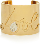 Lanvin Love Gold-tone Swarovski Crystal Cuff - one size